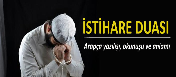 İstihare duası Arapça Türkçe okunuşu