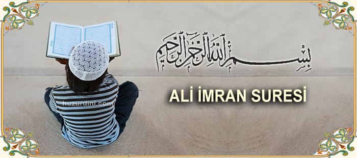 Ali İmran suresi latince yazılışı ve Türkçe meali